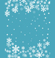 christmas background blurred white snowflakes vector image vector image