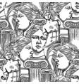 classical pattern of venus de milo and columns vector image vector image