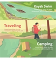 Colourful camping flat banner set for your vector image vector image
