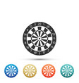 darts board with twenty black and white sectors vector image vector image