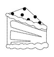 delicious cake portion icon vector image vector image