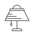 desk lamp line icon sign o vector image vector image