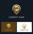 document data gps gold technology logo vector image vector image