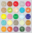 Draw flat Color style Business Graph icon set vector image vector image