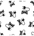 electro car icon seamless pattern background vector image