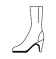 elegant heeled boots icon vector image vector image