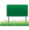 empty billboard grass below vector image vector image