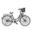 european city bike vector image