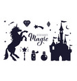 fairy tale silhouette collection with vector image