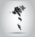 faroe islands map black icon on white background vector image