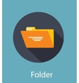 Folder Flat Icon Concept vector image