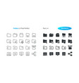 folders ui pixel perfect well-crafted thin vector image vector image