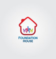 foundation house logo vector image vector image