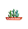 gardening logo for advertising services gardeners vector image
