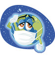 global pandemic dangerous virus concept vector image