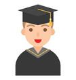 graduate man icon profession and job vector image vector image