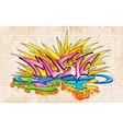 Graffiti style Music background vector image vector image