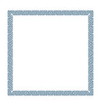 greek decorative frame vector image vector image