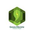 green electric logo for green life vector image vector image