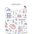 gynecology banner template medical vector image vector image