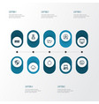 hardware outline icons set collection of printer vector image vector image