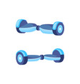 hoverboard scooter for teenagers icons set vector image