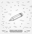 Isometric pencil on white background For web vector image vector image