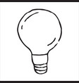 lamp doodle icon vector image