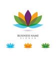 lotus flowers design logo vector image vector image