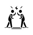 loud discussion black icon concept vector image vector image