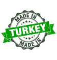 made in turkey round seal vector image