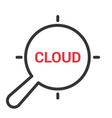 magnifying optical glass with words cloud vector image