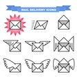Mail delivery icons vector image
