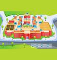 map of school vector image vector image