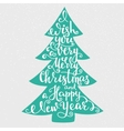 Merry Christmas Happy New Year lettering vector image vector image