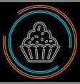 muffin - cupcake dessert vector image