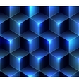 Navy blue cubes background vector image