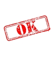OK rubber stamp vector image