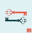old key icon isolated vector image vector image