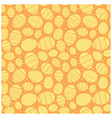 orange easter seamless pattern with eggs vector image vector image