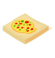 pizza box icon isometric 3d style vector image