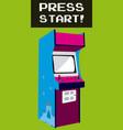 press start to play arcade vector image