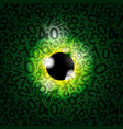 realistic eyeball on a number background vector image