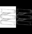 ribbon banner scroll hand drawn sketch vector image