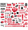 sale tags sale banners set shopping discount vector image