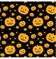 Seamless pattern with pumpkins on background vector image vector image