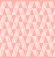 seamless triangle pattern pastel pink geometric vector image