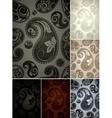 seamless wallpaper pattern set six colors vector image vector image