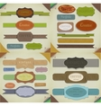 Set of retro ribbons old vector image vector image