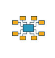 sitemap icon simple element from seo icons vector image vector image